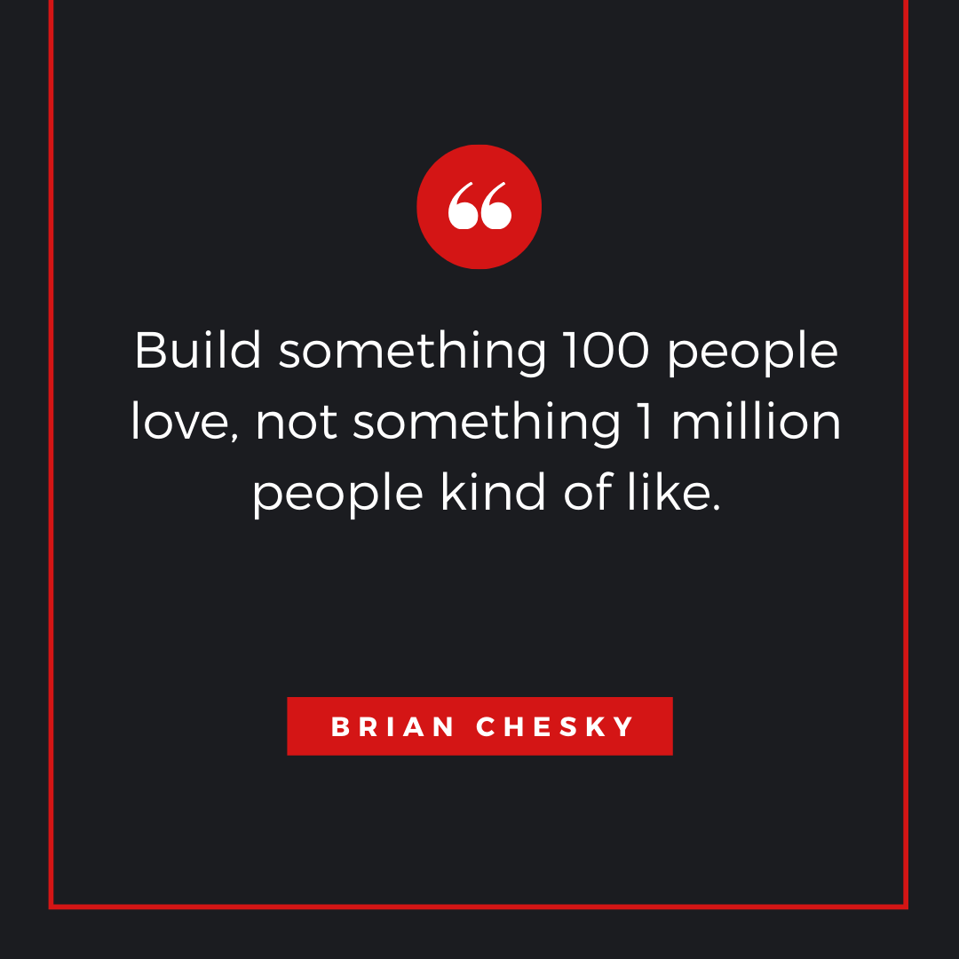 Quote by Brian Chesky - 50 Inspirational Quotes by highly successful entrepreneurs - Huntlancer | On the hunt for freelance talent