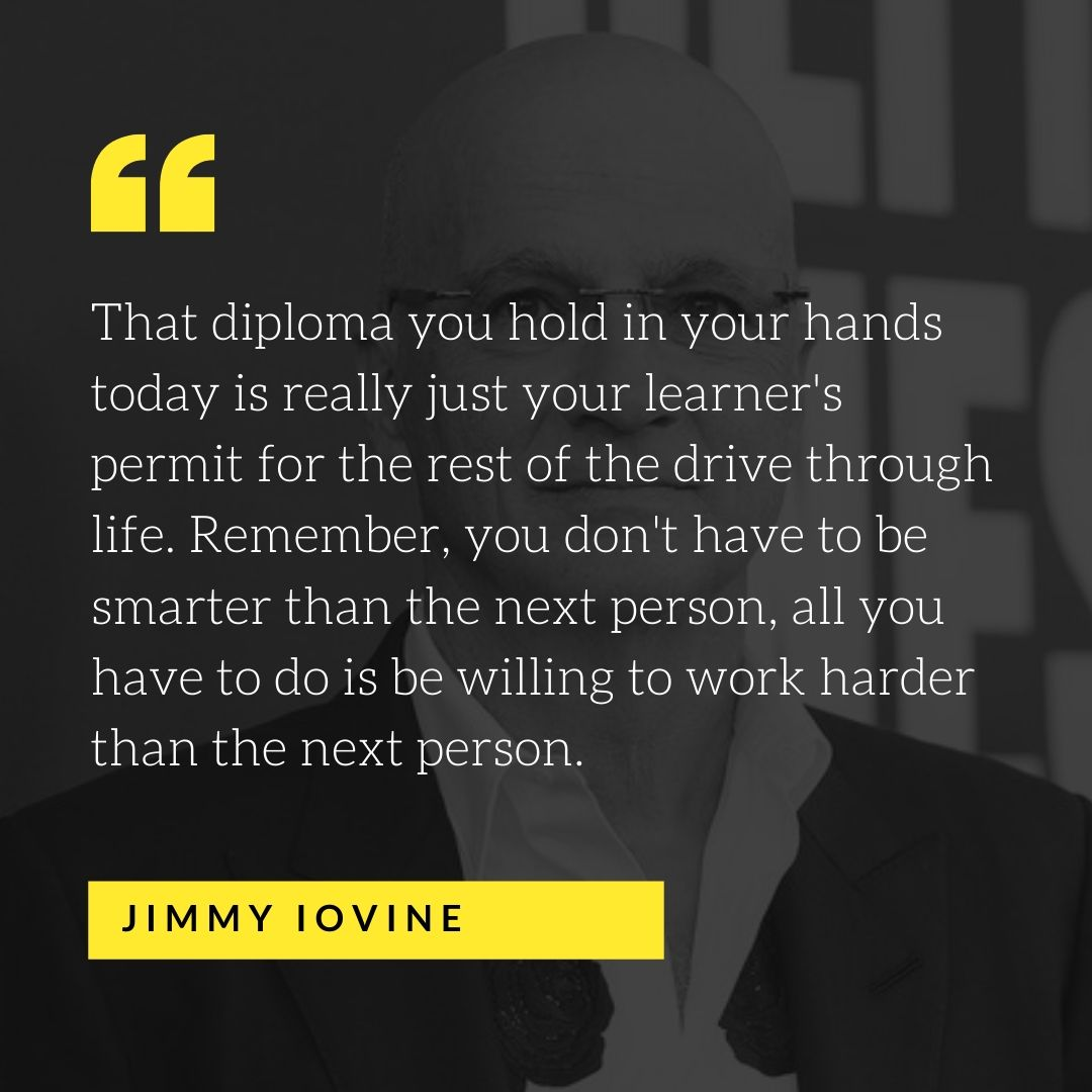 Quote by Jimmy Iovine - 50 Inspirational Quotes by highly successful entrepreneurs - Huntlancer | On the hunt for freelance talent