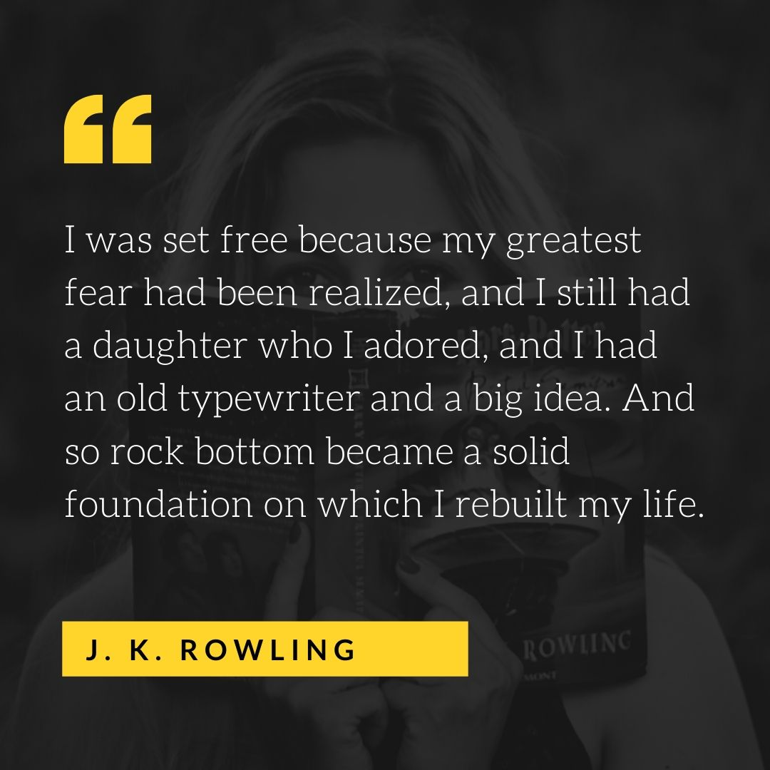Quote by J.K. Rowling - 50 Inspirational Quotes by highly successful entrepreneurs - Huntlancer | On the hunt for freelance talent