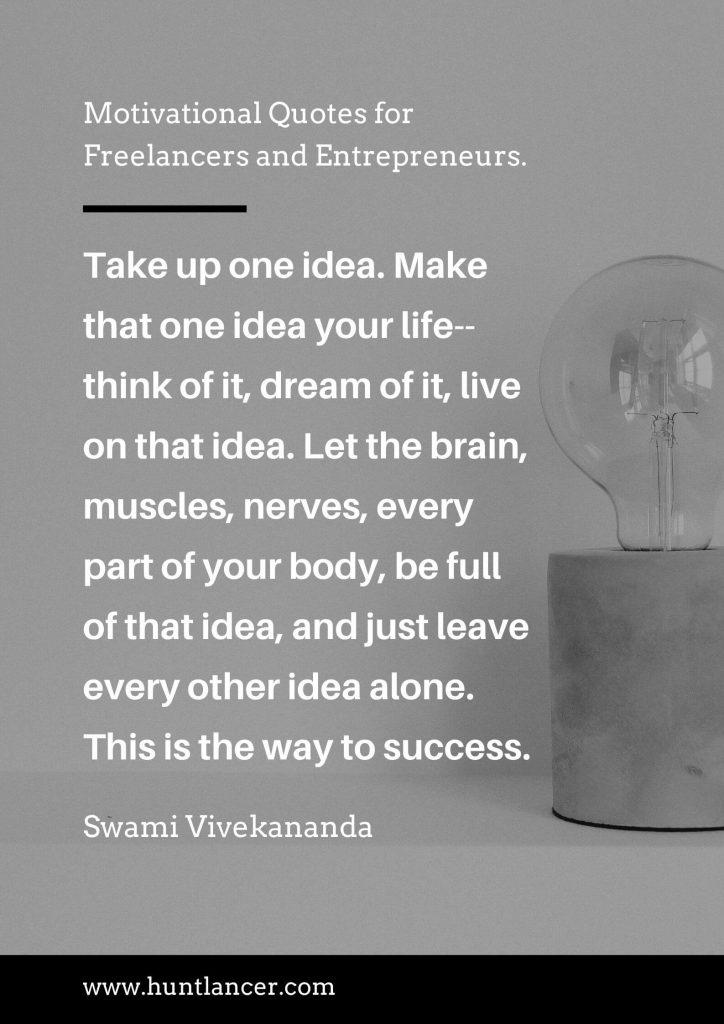 Swami Vivekananda - 50 Motivational Quotes for Freelancers and Entrepreneurs | Huntlancer - On the hunt for freelance talent