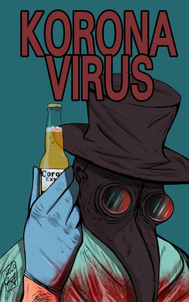 Corona virus by Dmitry Chernogubov, Russia | Coronavirus Inspired Artworks by Freelancers Around the World