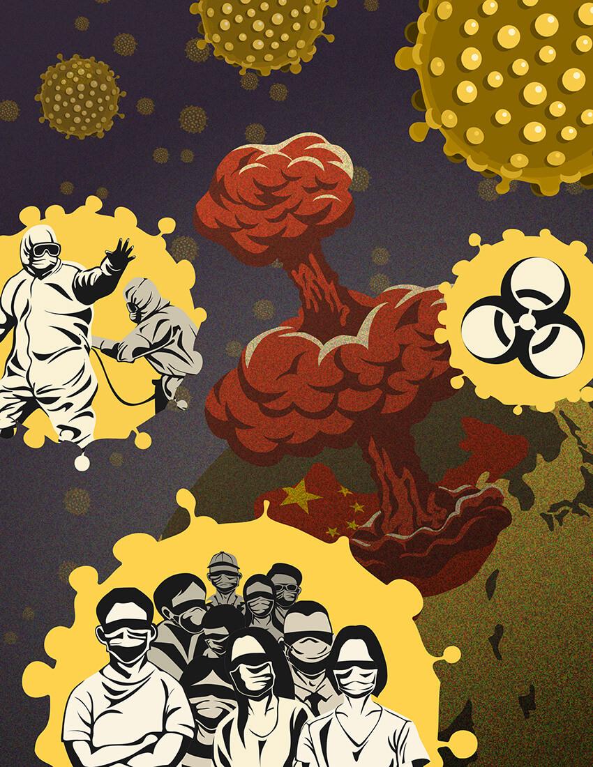 2019 Novel Coronavirus Outbreak by Andy Chiang, USA | Coronavirus Inspired Artworks by Freelancers Around the World