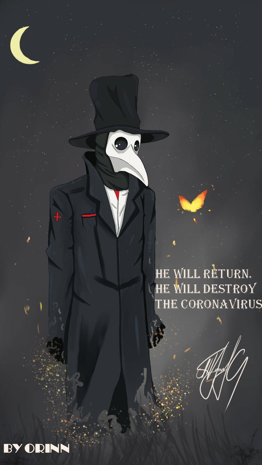 Coronavirus Doctor by Orinn Orinn, Ukraine | Coronavirus Inspired Artworks by Freelancers Around the World