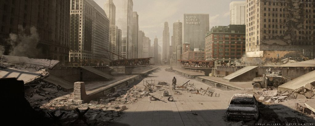 CIUDAD by Pablo Olivera, Argentina | At World's End: 25 Post Apocalyptic Art Scenes Envisioned by Freelance Artists