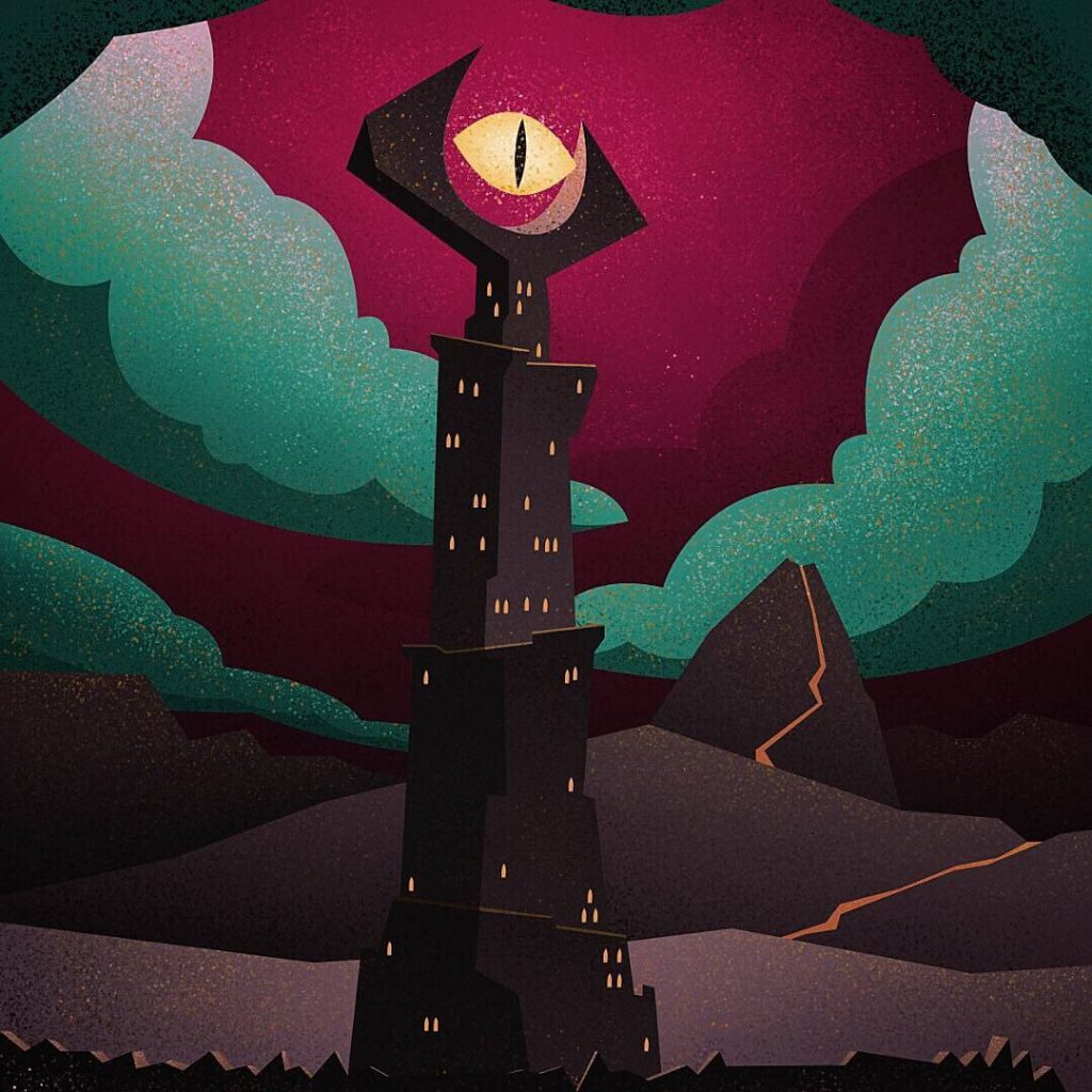 Eye of Sauron by Terry Edward Elkins, Canada | The Lord of The Rings Fan Art Collection 2020
