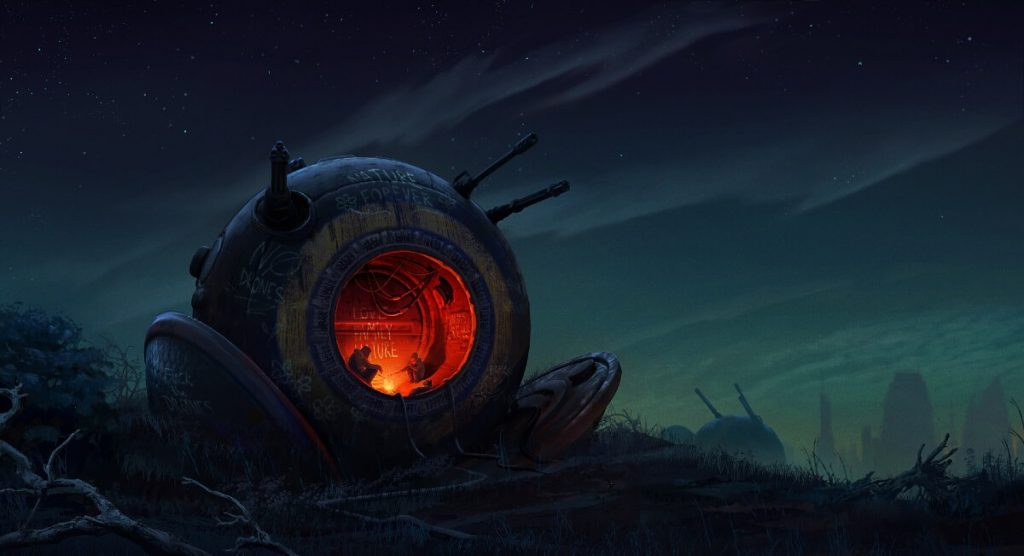 Fireplace by Dmitriy Bessonov, Ukraine | At World's End: 25 Post Apocalyptic Art Scenes Envisioned by Freelance Artists