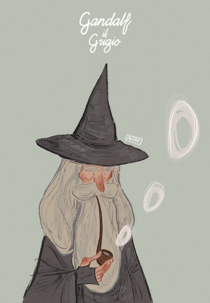 Gandalf the Grey by Agnese Innocente, Italy  | The Lord of The Rings Fan Art Collection 2020