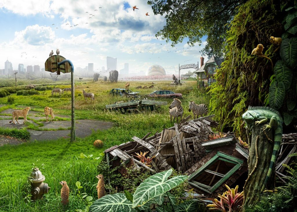 Sanctuary by Nick Pedersen, USA | At World's End: 25 Post Apocalyptic Art Scenes Envisioned by Freelance Artists