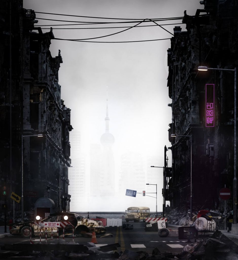 The Bund by Unbuild Creative Studio, China | At World's End: 25 Post Apocalyptic Art Scenes Envisioned by Freelance Artists