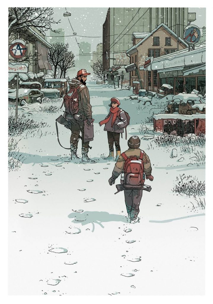 Illustration from 'The Fall' Comic by Jared Muralt, Switzerland | At World's End: 25 Post Apocalyptic Art Scenes Envisioned by Freelance Artists