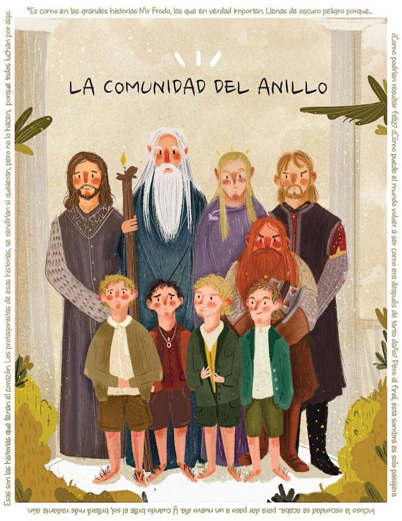 The Fellowship of the Ring by Eliza Moreno, Mexico | The Lord of The Rings Fan Art Collection 2020