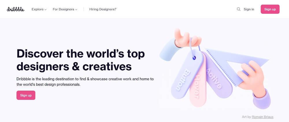 Dribble on Best Freelance Websites to Start Your Freelance Career in 2020 by Huntlancer