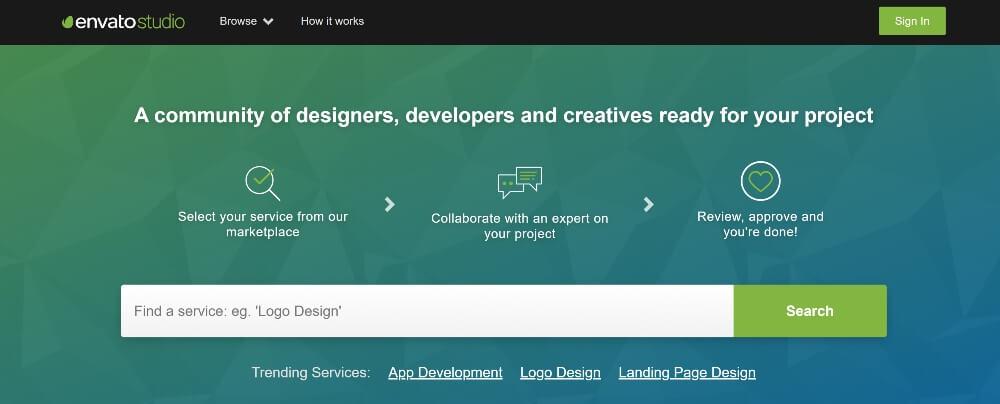 Envato Studio on Best Freelance Websites to Start Your Freelance Career in 2020 by Huntlancer