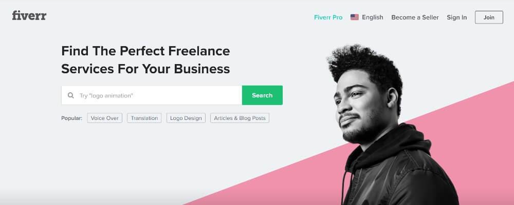 Fiverr on 30 Best Freelance Websites to Start Your Freelance Career in 2020 by Huntlancer