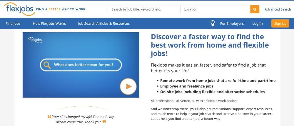 FlexJobs on Best Freelance Websites to Start Your Freelance Career in 2020 by Huntlancer