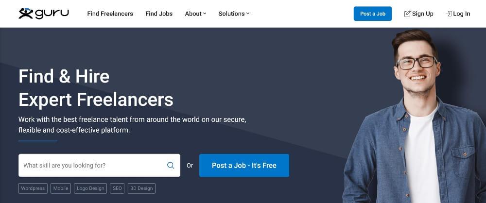 Guru on Best Freelance Websites to Start Your Freelance Career in 2020 by Huntlancer
