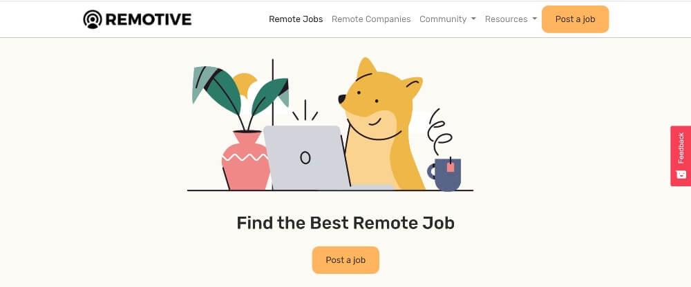 Remotive on Best Freelance Websites to Start Your Freelance Career in 2020 by Huntlancer