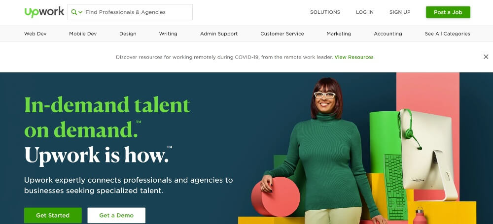 Upwork on Best Freelance Websites to Start Your Freelance Career in 2020 by Huntlancer