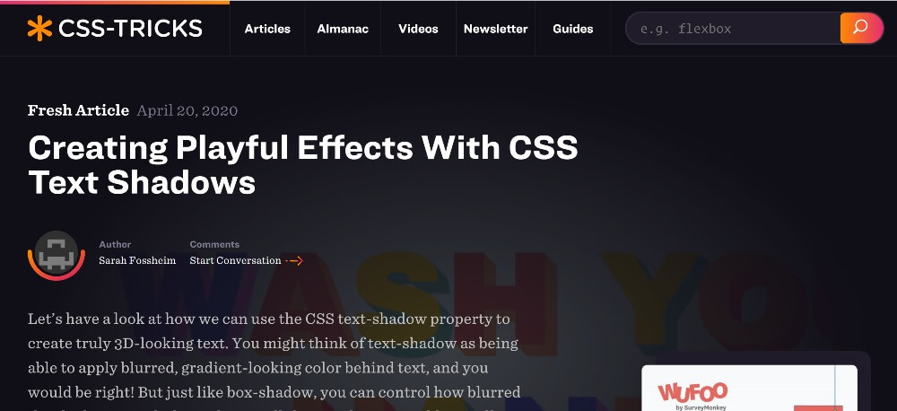 CSS-Tricks on 25 Essential blogs for freelancers in 2020 by Huntlancer