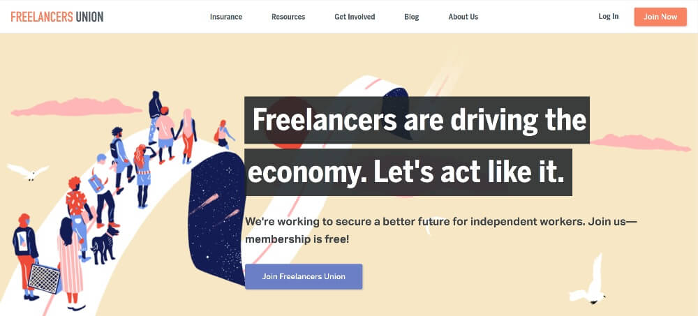 Freelancers Union on 25 Essential blogs for freelancers in 2020 by Huntlancer