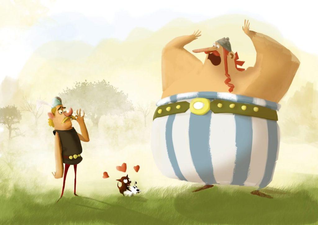 Asterix and Obelix by Enrique Ibanez, UK - Huntlancer