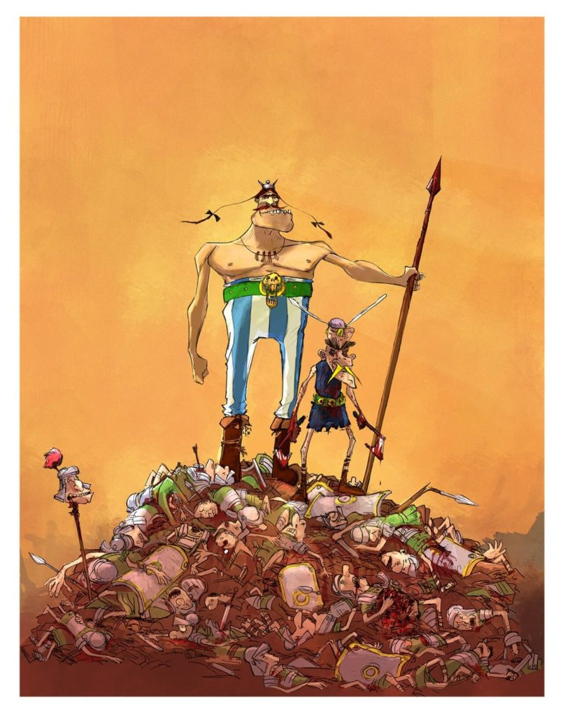 Asterix and Obelix Barbarian style by Paul Raillar, France - on Huntlancer