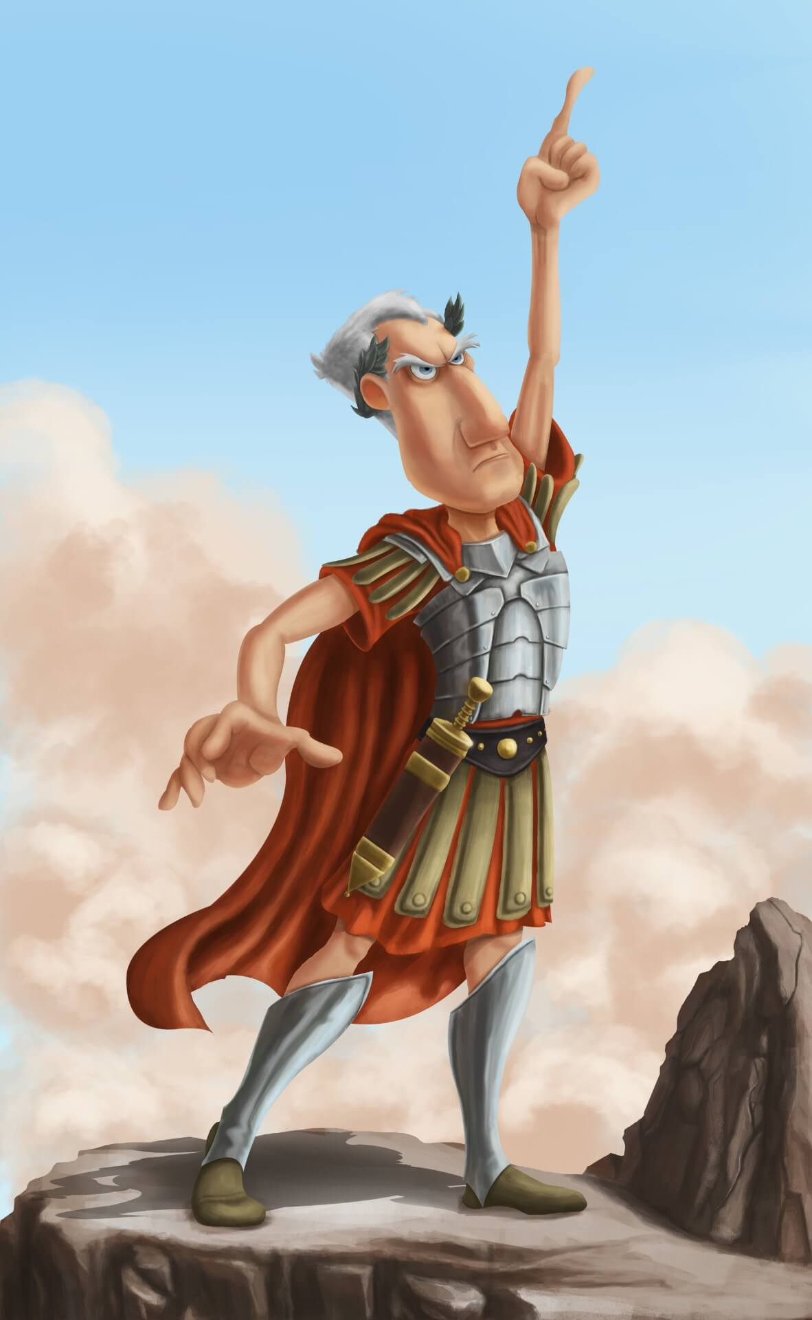 Cesar character in Asterix and Obelix by Sebastian Meinecke, Canada - Huntlancer