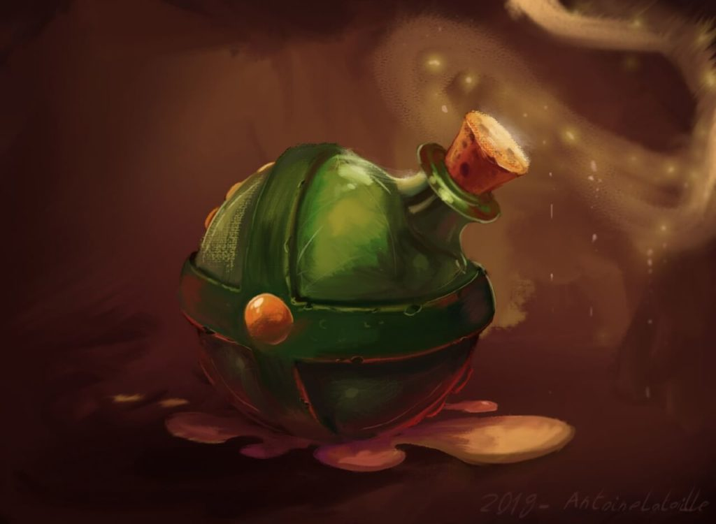 Gourd of magic potion by Antoine Lataille, France | Asterix and Obelix