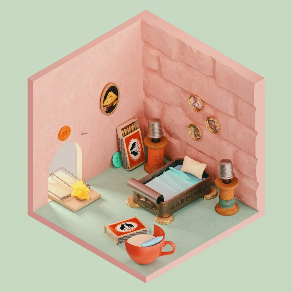 The Rooms Project on Huntlancer | Jerry's room from Tom and Jerry Cartoons.