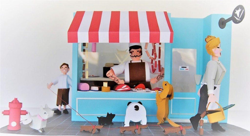 Creative Paper Artists on Huntlancer | Sausages - 3D Paper Miniature by Tònia Boske, Spain