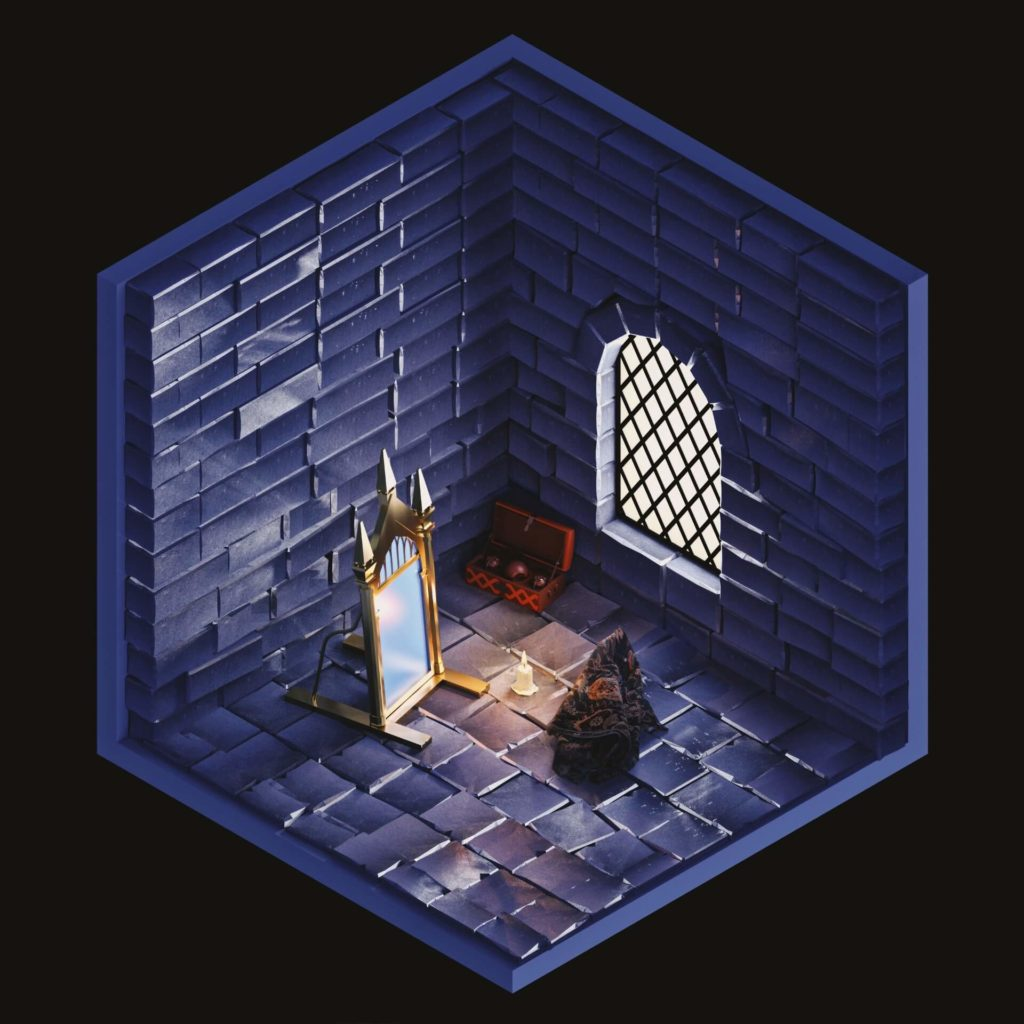 The Rooms Project on Huntlancer | Hogwarts room with artifact Mirror of Erised and Cloak of invisibility.
