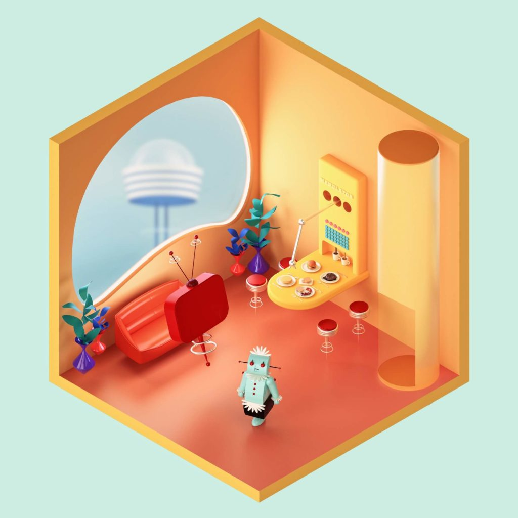 The Rooms Project on Huntlancer | The Jetsons Living Room.