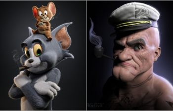 The World of Gene Deitch: 3D Artists create Tom and Jerry, Popeye Inspired Characters