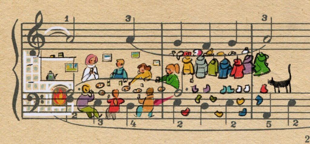 Sheet Music Art in Detail by Russian Studio 'People Too' - Vintage