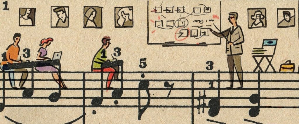 Sheet Music Art in Detail by Russian Studio 'People Too' - Excerpt 2 from Hollywood music schools