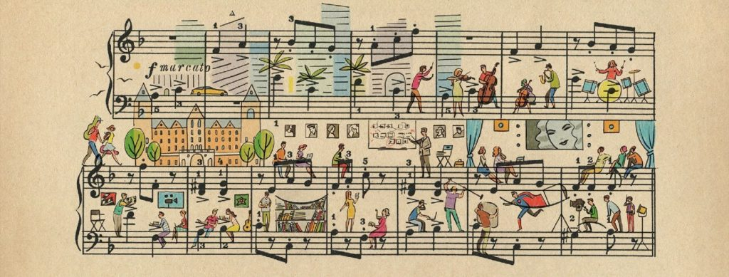 Sheet Music Art in Detail by Russian Studio 'People Too' - Excerpt from Hollywood music schools