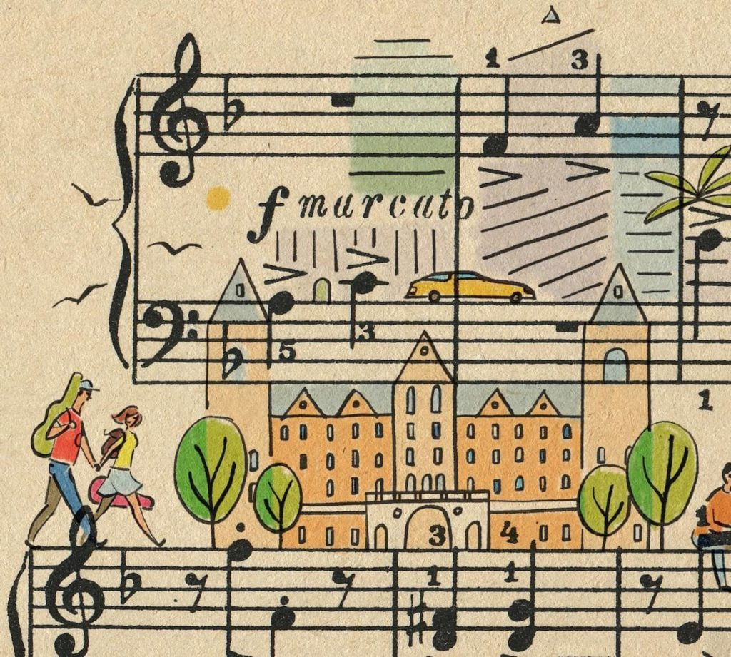 Sheet Music Art in Detail by Russian Studio 'People Too' - Excerpt 3 from Hollywood music schools