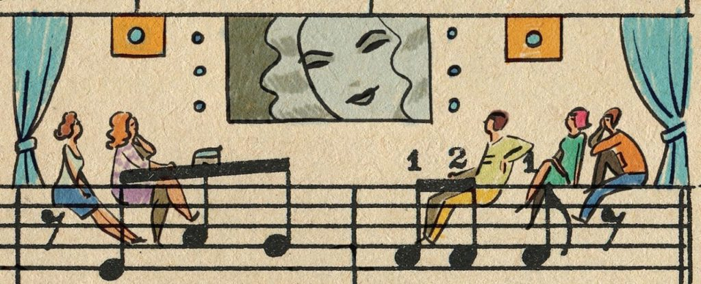 Sheet Music Art in Detail by Russian Studio 'People Too' - Excerpt 1 from Hollywood music schools