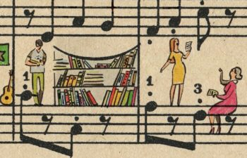 Sheet music art in detail by Russian studio People Too