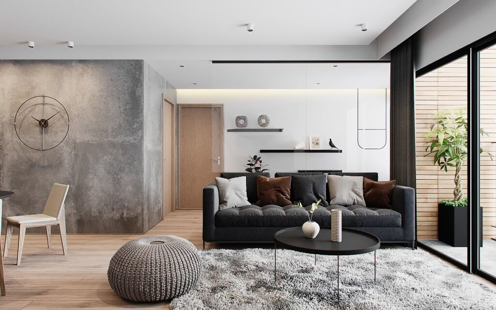 Minimalist Apartment by Hieu Doan, Vietnam | Freelance Interior Designers: Inspiring Living Room Design Styles on Huntlancer