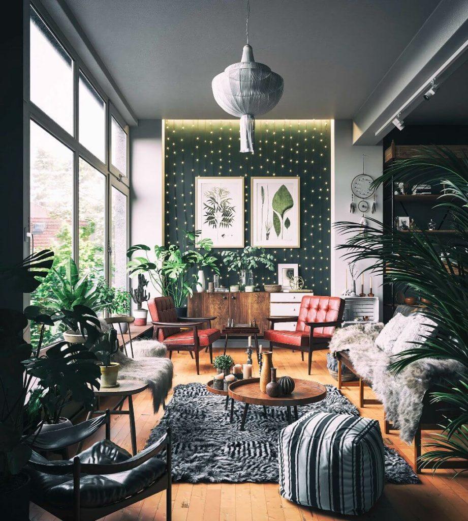 Bohemian Interior Design by Majid Kermani, Iran | Freelance Interior Designers: Inspiring Living Room Design Styles on Huntlancer
