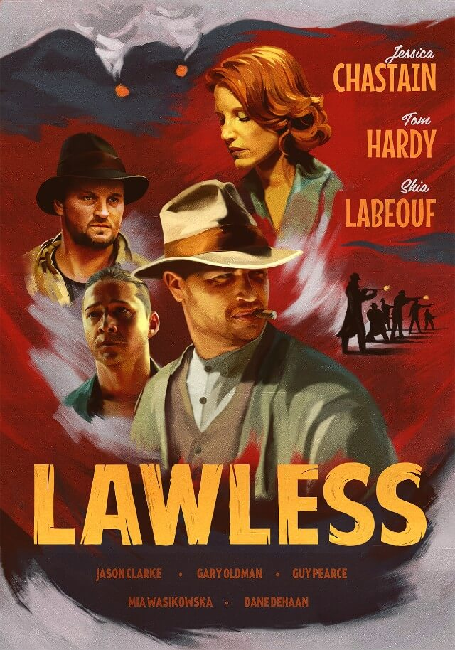 Iconic Movie Poster Remakes: Lawless (2012) Poster by Alexey Kot, Belarus