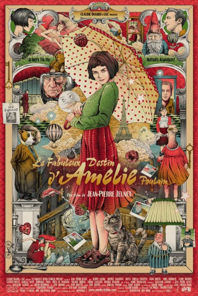 Iconic Movie Poster Remakes: Amélie (2001) Poster by Ise Ananphada, Thailand
