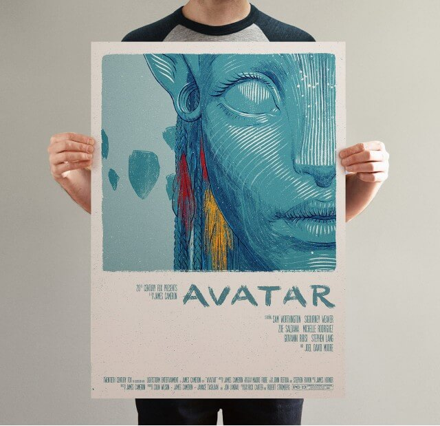 Iconic Movie Poster Remakes: Avatar (2009) Poster by Bartosz Kosowski, Poland