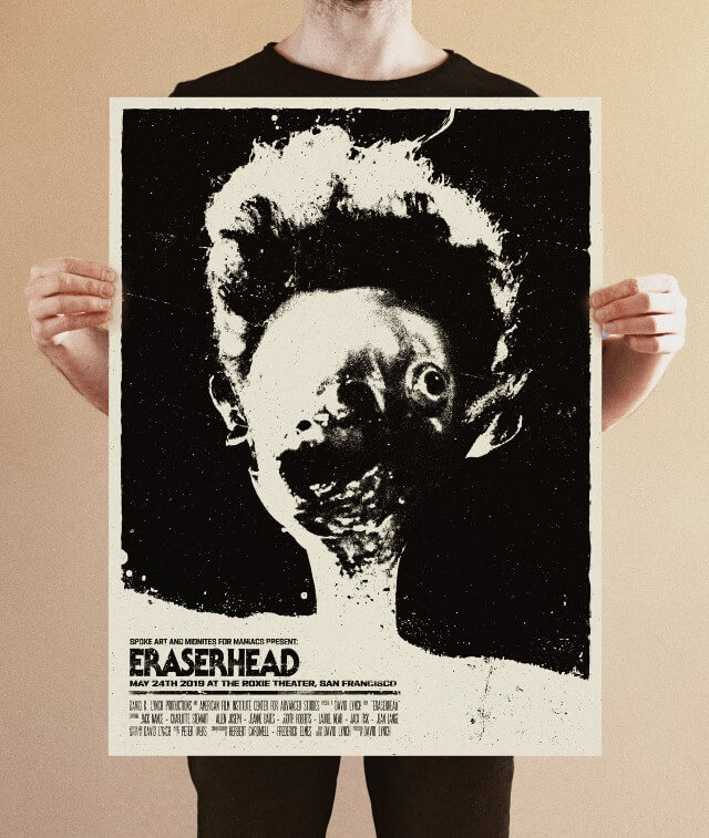 Iconic Movie Poster Remakes: Eraserhead (1977) Poster by Bartosz Kosowski, Poland