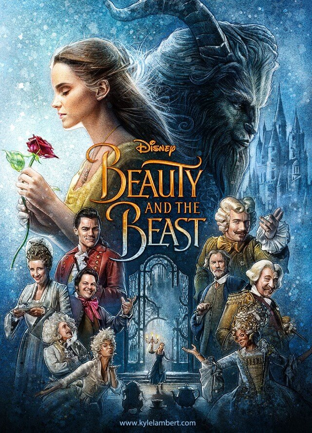 Iconic Movie Poster Remakes: Beauty and the Beast (2017) Poster by Kyle Lambert, USA
