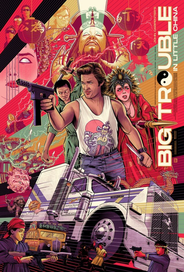 Iconic Movie Poster Remakes: Big Trouble in Little China (1986) Poster by César Moreno, Mexico