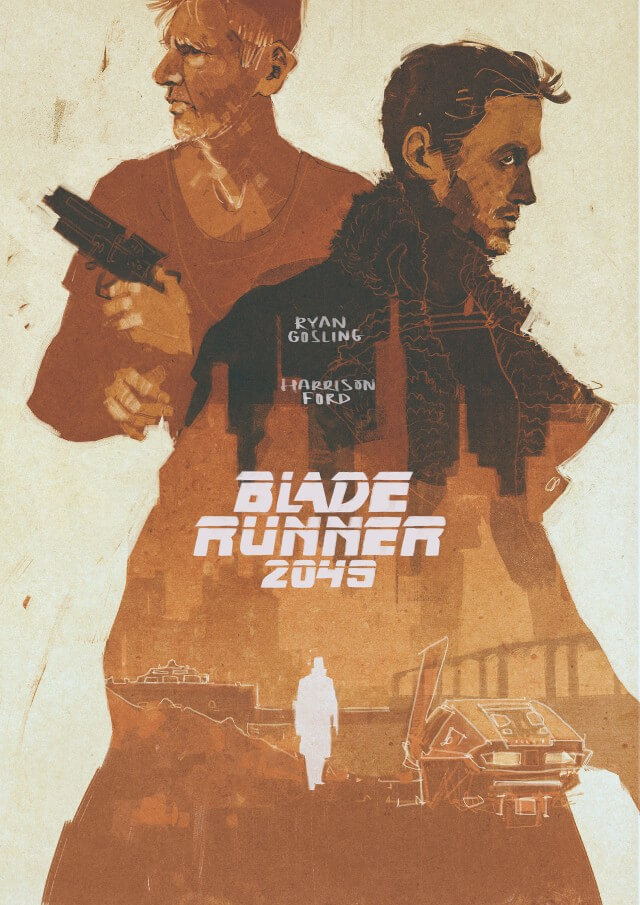 Iconic Movie Poster Remakes: Blade Runner 2049 (2017) Poster by Darya Shnykina, Russia