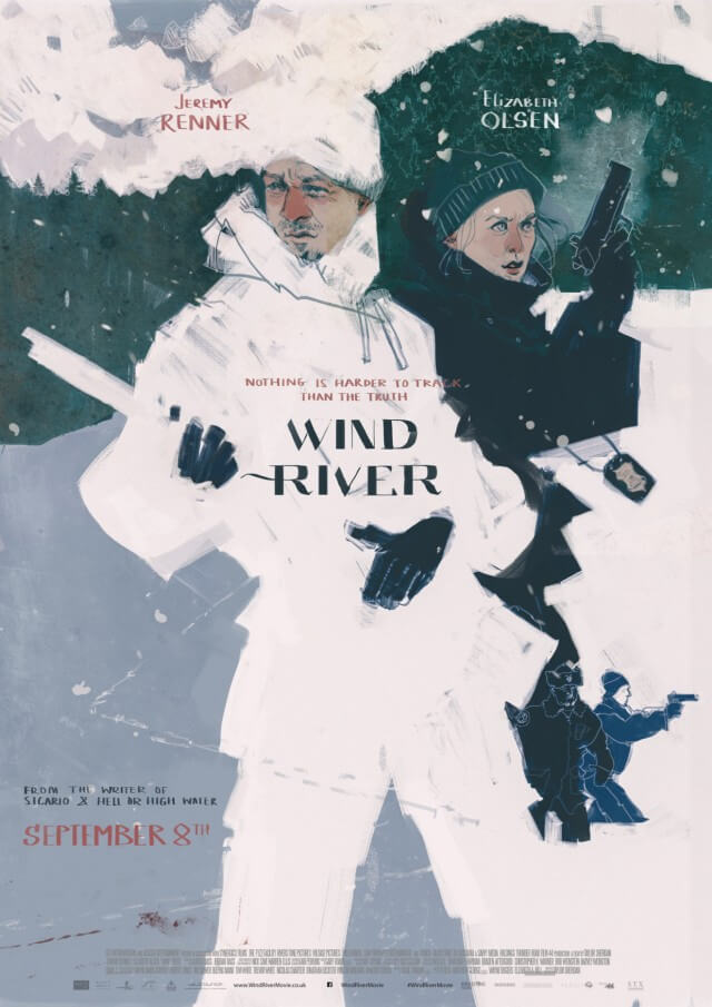 Iconic Movie Poster Remakes: Wind River (2017) Poster by Darya Shnykina, Russia