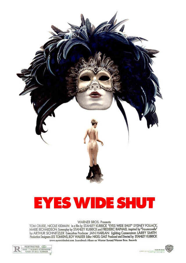 Iconic Movie Poster Remakes: Eyes Wide Shut (1999) Poster by Davide Morettini, Italy